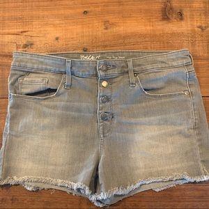 Jean shorts - Cut offs. Gray.